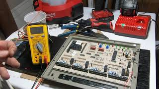 Setting Up HVAC Zoning Panel Test To Repair Board