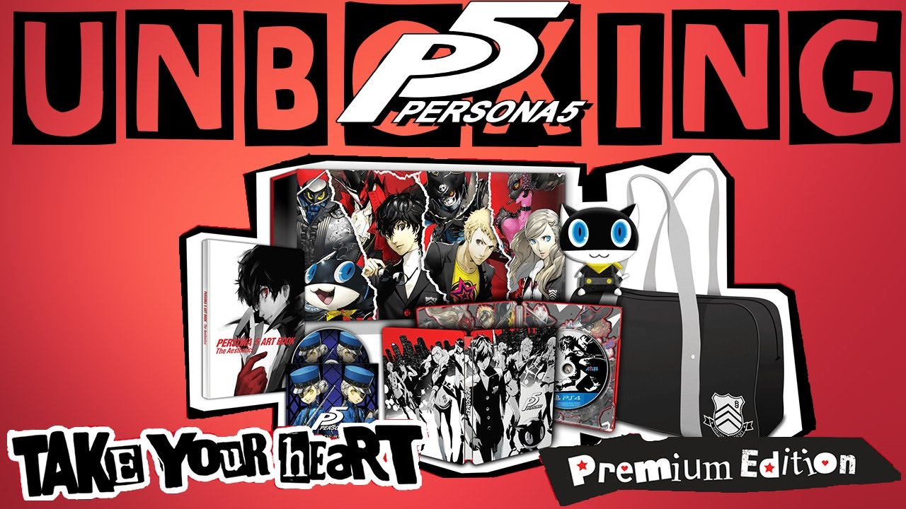 Fr Unboxing Persona 5 Take Your Heart Premium Edition Youtube