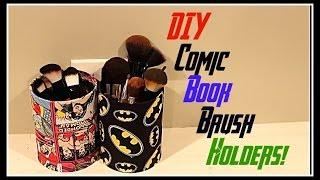 ♥♡  Diy Comic Book Brush Holders!!♥♡