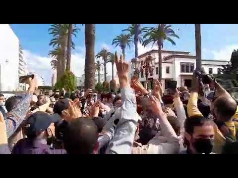 قمع الوقفة التضامنية مع الشعب الفلسطيني بالرباط يوم 10 مايو 2021  - 02:58-2021 / 5 / 11
