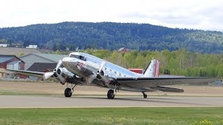 Amazing Sound! - Douglas DC-3 Dakota - Runup and Departure at Kjeller Airport ENKJ
