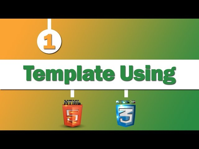 Design Template Using ( HTML 5 - CSS 3 )