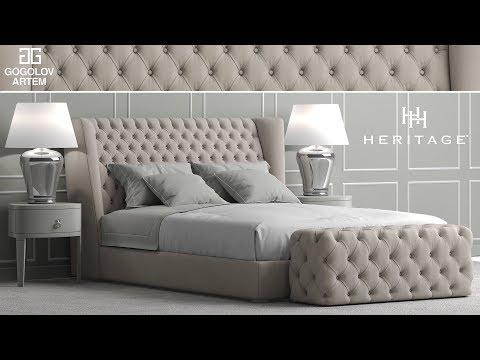 "№35.Моделирование кровати ""Heritage Collection Four Seasons Bed"" в 3d Max и Marvelous Designer"