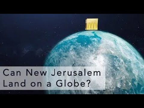 Can the Heavenly City Land on a Globe ?