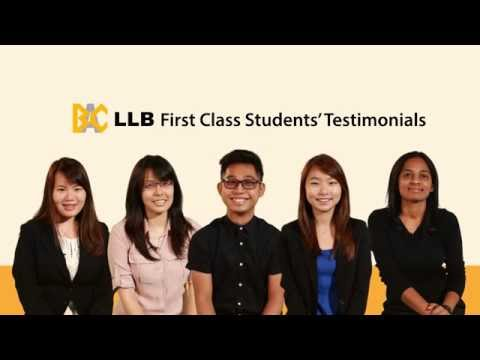 What Law Has Done For BAC's First Class Students