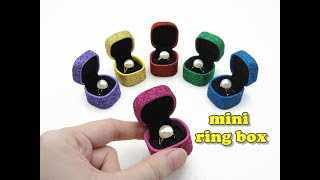 DIY Doll Accessories Mini Ring Box with Ring - Easy