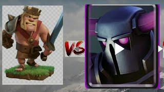 lv1 PEKKA vs lv1 king vs lv1 Tesla COC Gameplay