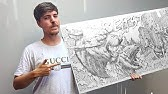 I Drew MrBeast For 24 Hours Straight & Sent It To Him   ZHC