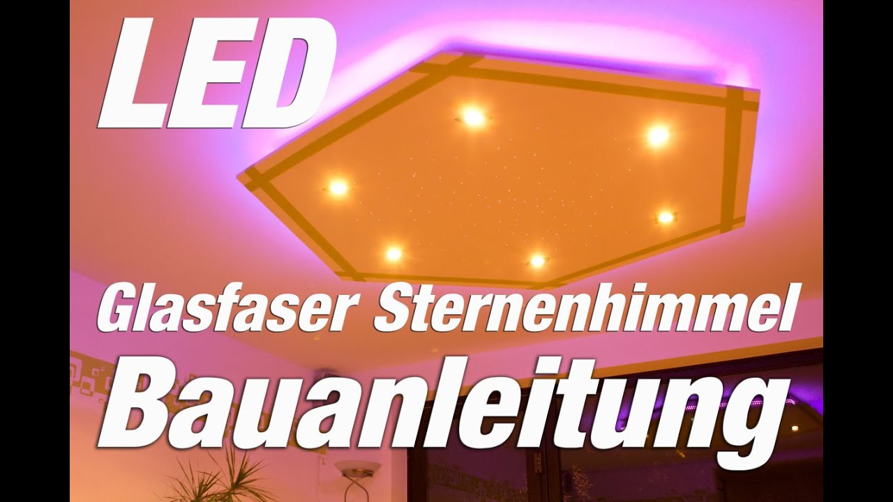 led deckenleuchte selber bauen led glasfaser hexagon youtube. Black Bedroom Furniture Sets. Home Design Ideas