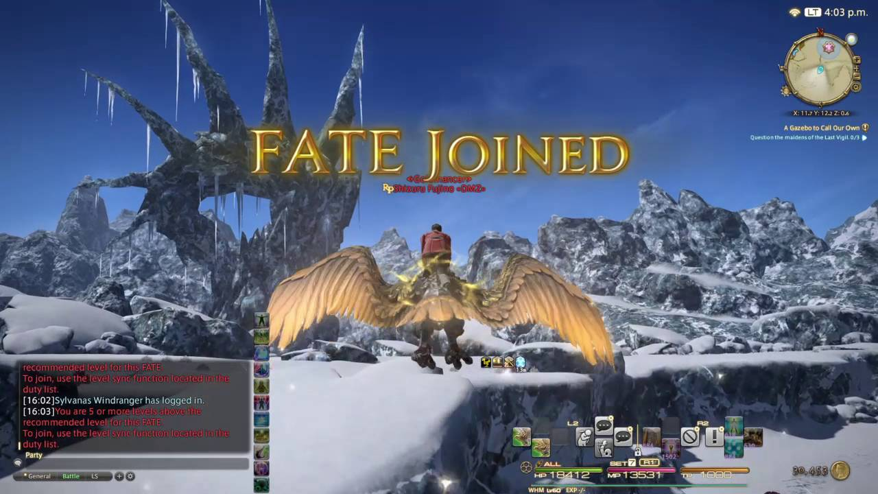 FINAL FANTASY XIV_Sophic Lanner 1st ride by Rico Frost