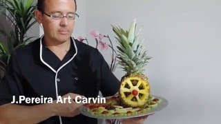 Windmill made with pineapple - By J.Pereira Art Carving Fruits