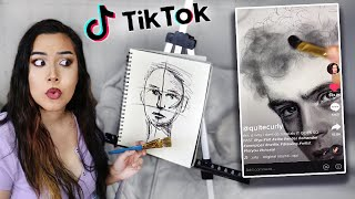 Exploring Tiktok's Art & Drawing Advice... *uhhh drawing with brushes & bleach???*