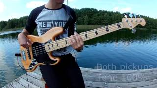 squier vintage modified 70s jazz bass 5 strings v demo samples