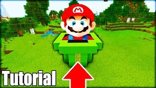 "Minecraft: How To Make a Super Mario Hidden Base ""Hidden Underground Base"""
