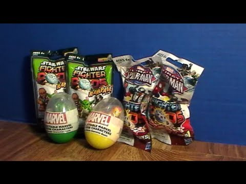 Star Wars Series 4 Amp Spider Man Fighter Pods Blind Bags