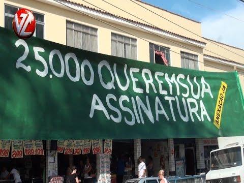Povo faz manifestação pela anexação do distrito Califórnia à Volta Redonda