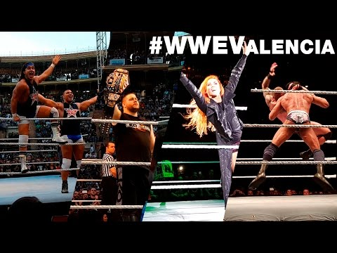 VIENDO LA WWE EN VALENCIA DESDE LA 2ª FILA! | #WWEValencia