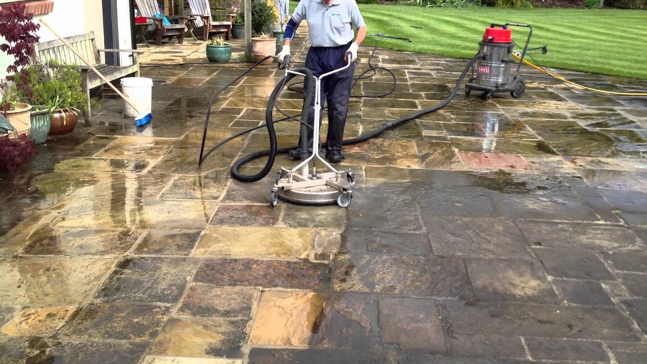 Natural Stone Cleaning   Www.yorkshiredrivewaycleaning.co.uk   YouTube