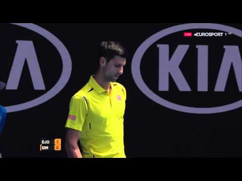 Australian Open 2016 Novak Djokovic Vs Gilles Simon 720HD