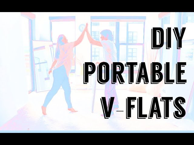 How to make PORTABLE V-Flats for CHEAP.
