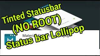tinted status bar iconos lollipop no root