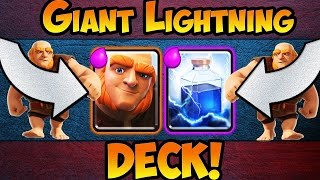 Clash Royale / AWESOME GIANT LIGHTNING DECK With PROOF And LIVE BATTLES!