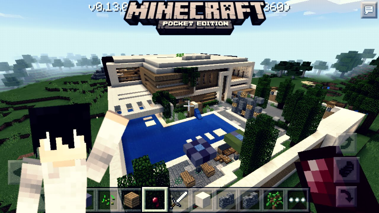 Mapa de casa moderna para minecraft pe mcpe youtube for Casa moderna minecraft 0 12 1