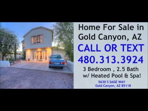 Beautiful Gold Canyon AZ Home For Sale w/ Pool & Spa