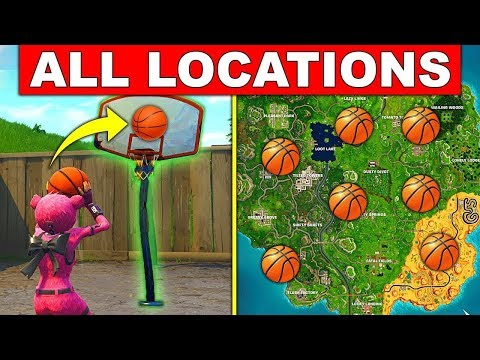 All Fortnite Basketball Hoops  Locations -  Fortnite Basketball Courts Locations