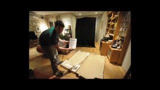 (time-lapse) Me Mounting A Vejmon Coffee Table From Ikea. / Montando Mesa Centro De Ikea