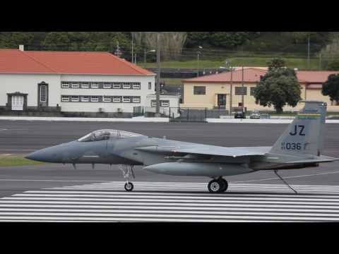 F-15c Barrier test at Lajes Field