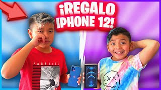 LE REGALO UN IPHONE 12 A MI HERMANO *llora*