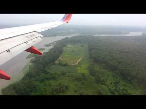 Landing at Albany International Airport.