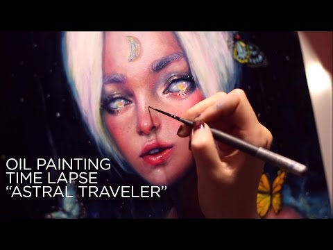 "OIL PAINTING TIME LAPSE || ethereal princess ""Astral Traveler"""