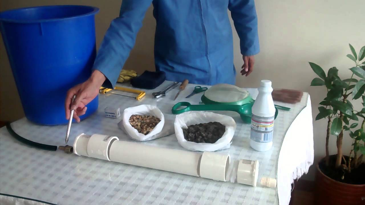 02e41a8c24939 Filtro casero para tratamiento de agua potable(2) - YouTube