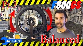 setting up a spare set of wheels for my bmw f800gs pt 3 balance the tires