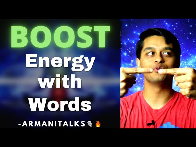 Gain More Energy Naturally with Words | How to Boost Energy