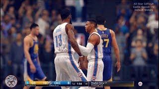 NBA Live 18: Warriors at OKC - Game Speed 70, Default Sliders