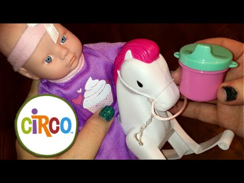 mini circo baby doll from target with rocking horse bottle cup and diaper bag youtube. Black Bedroom Furniture Sets. Home Design Ideas