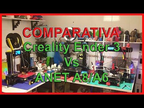 Comparativa Creality Ender 3 Vs Anet A8/A6