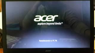 Notebook Acer Aspire | Restaurar  sistema operativo al estado de fabrica