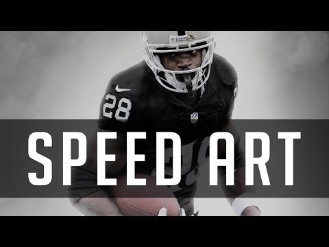 Adrian Peterson Jersey Swap To Raiders | Sports Digital Speedart | Photoshop