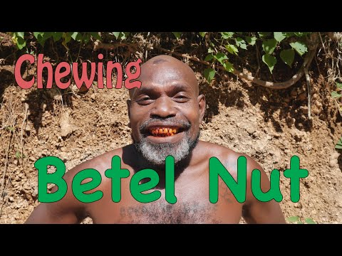 Chewing Betel Nut,  Solomon Islands