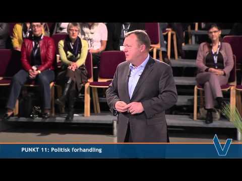 Lars Løkke Rasmussen taler ved Venstres Landsmøde søndag