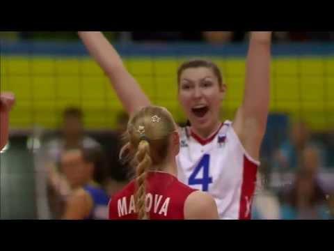Лучшие игровые моменты женской сборной России по волейболу на турнире Montreux Volley Masters 2014