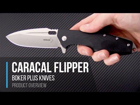 Boker Plus Boris Manasherov Caracal D2 Flipper Folding Knife Overview