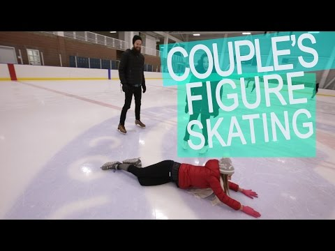 Couple Tries Figure Skating for the First Time
