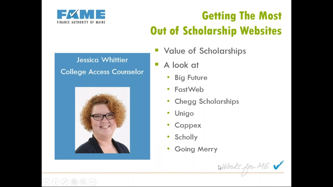 Getting the Most Out of Scholarship Websites