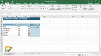 Excel 2016: Formeln und Funktionen Tutorial: Einfache Formeln erstellen  video2brain.com
