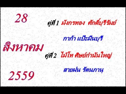 วิจารณ์มวยไทย 7 สี อาทิตย์ที่ 28 สิงหาคม 2559 (คู่ที่ 1,2)
